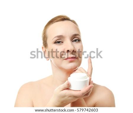 White mature facial