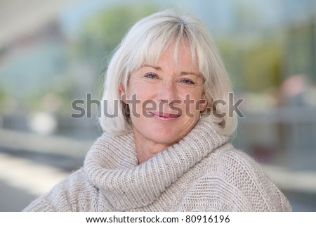 Portrait of beautiful senior woman