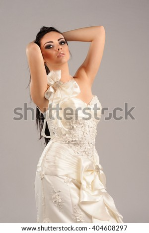 Portrait of Beautiful Sensual Woman in Fashion Dress