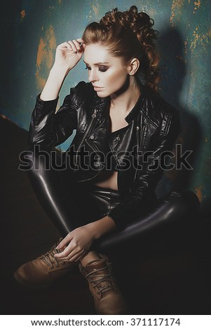 Portrait of beautiful sexy fashion model