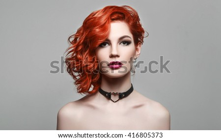 Portrait of beautiful sexy girl