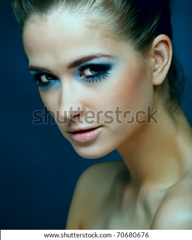 Portrait of beautiful woman isolated - stock photo