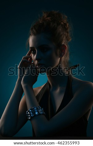Portrait of beautiful women. Mixed light.