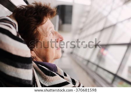 Portrait of beautiful 70 years old woman