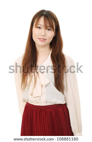 Portrait of beautiful young asian woman relaxed - stock photo