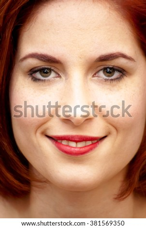Portrait of Beautiful Young Haired Woman