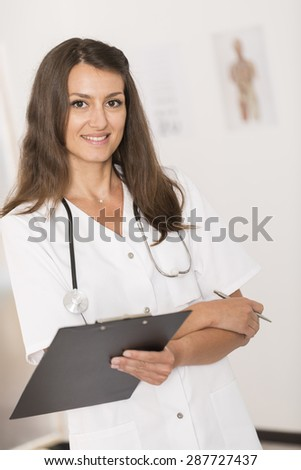 Portrait of beautiful young nurse