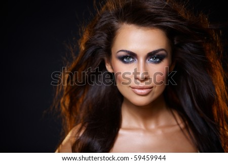 Portrait of beautiful young woman in sexy lingerie - stock photo