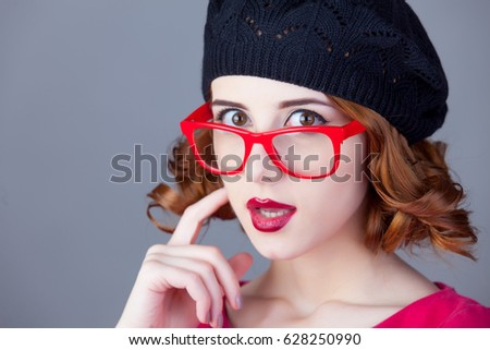 portrait of beautiful young woman on the wonderful grey studio background