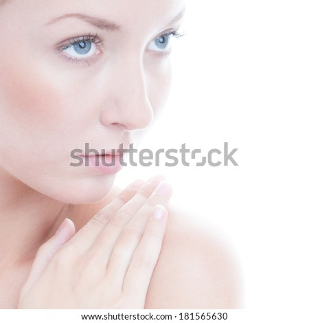Portrait of beauty woman - stock photo