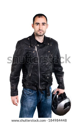 Portrait of biker