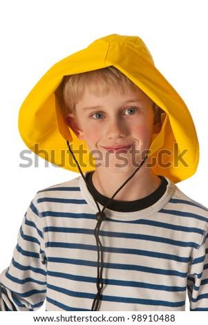 Yellow rain hat