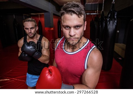 Portrait of boxing men at the fitness studio