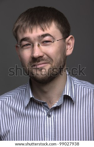 Portrait of business man - stock photo
