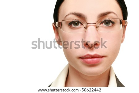 portrait of business woman in glasses. close-up