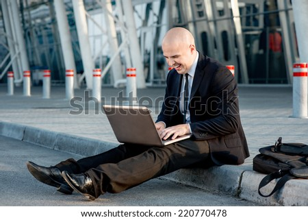 Portrait of businessman - stock photo