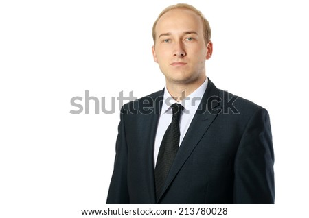 Portrait of businessman, isolated on white background