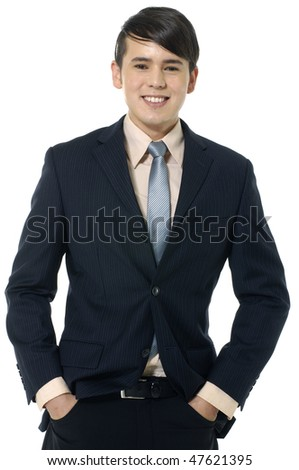 Portrait of businessman standing comfortably. - stock photo