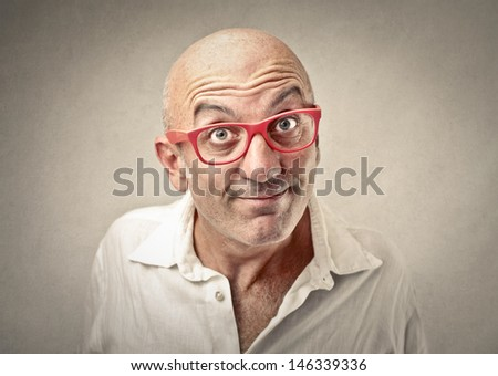 portrait of businessman with expressive face