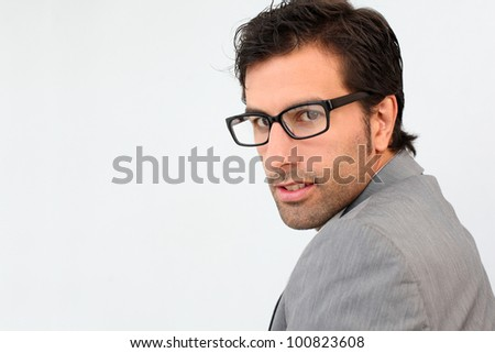 Portrait of businessman with eyeglasses