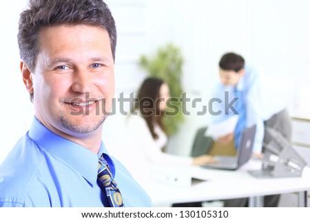 Portrait of confident business man - stock photo