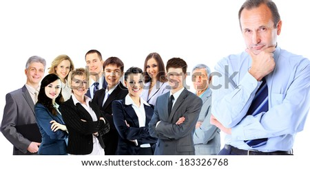 Portrait of confident business man - stock photo