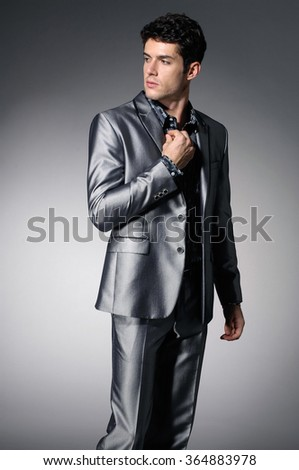 Portrait of confident business man isolated  - stock photo