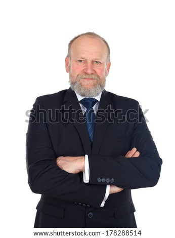 Portrait of confident businessman with crossed hands