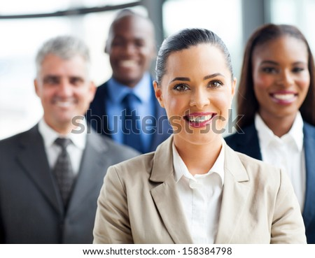 portrait of confident group business people