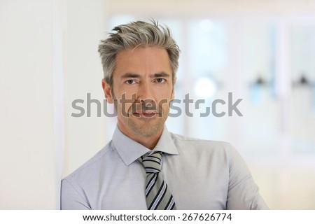 Portrait of confident mature businessman - stock photo