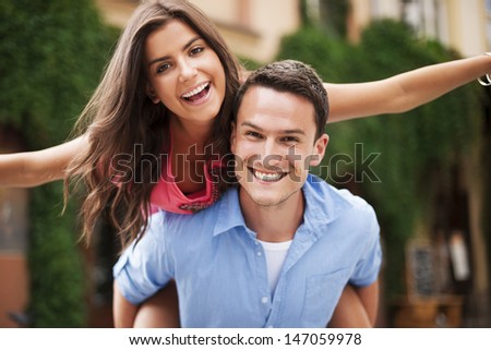 Portrait of couple in love - stock photo