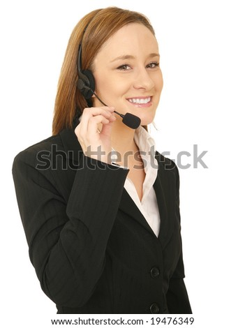 portrait of customer service with friendly expression