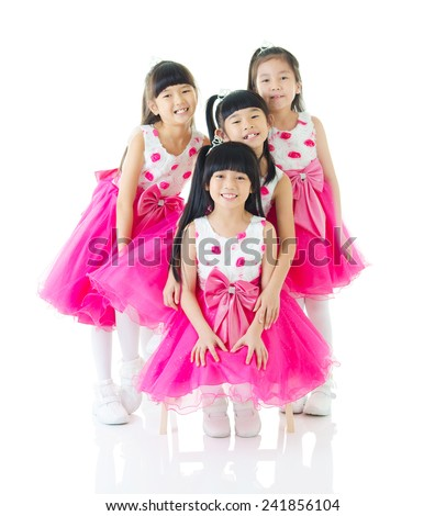 Portrait of cute asian girls  - stock photo