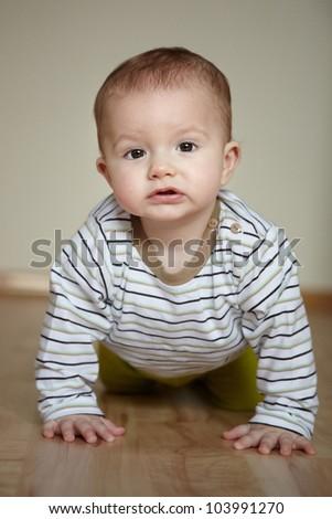 Portrait of cute little boy - stock photo