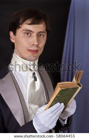 portrait of dandy with book