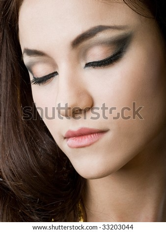 portrait of east girl with fashion make-up