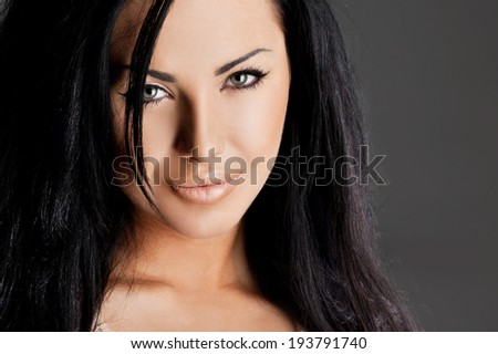 portrait of elegant fashionable woman
