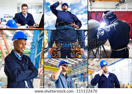 Portrait of engineers at work - stock photo
