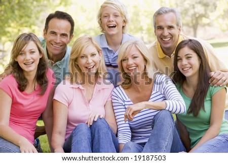 Portrait Of Family - stock photo