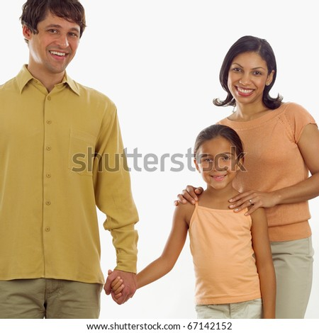 Portrait of family - stock photo