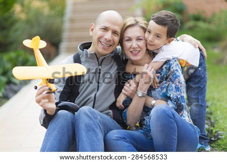 Portrait of family, Happy Family enjoying their Hobby At Home