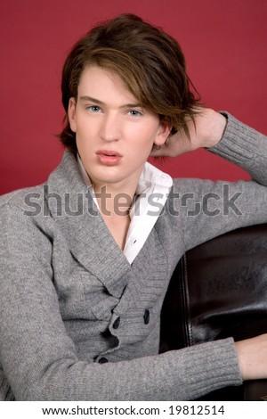 Portrait of fashion model - stock photo