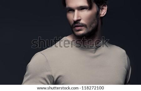 Portrait of fashionable Man - stock photo