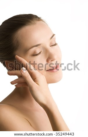 Portrait of Fresh and Beautiful woman - stock photo
