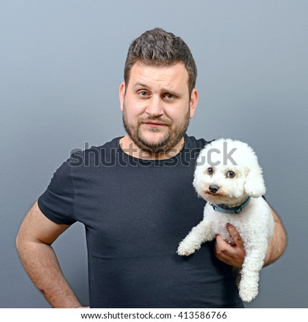Cool Maltese Chubby Adorable Dog - stock-photo-portrait-of-funny-looking-chubby-man-holding-cute-small-bichon-frise-puppy-against-gray-background-413586766  Image_48322  .jpg
