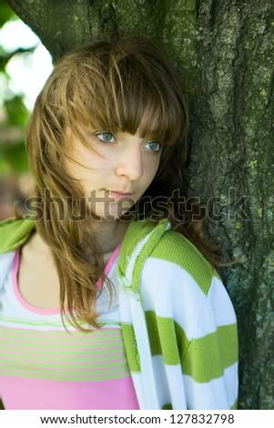 Portrait of girl - stock photo
