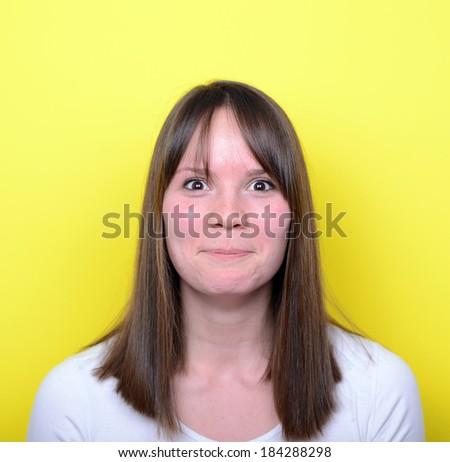 Portrait of girl blushing - stock photo