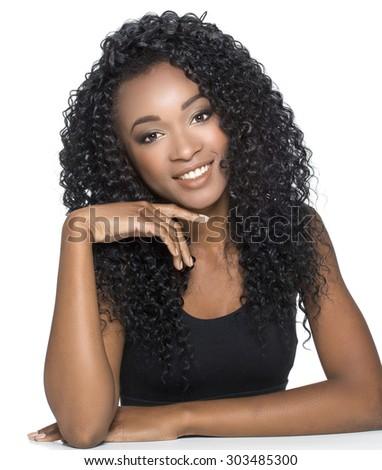 Portrait Of Girl Isolated  - stock photo