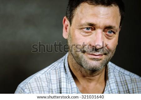 portrait of good man - stock photo