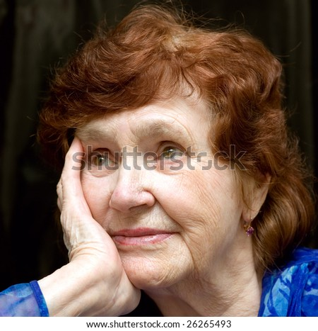 portrait of grandma - stock photo
